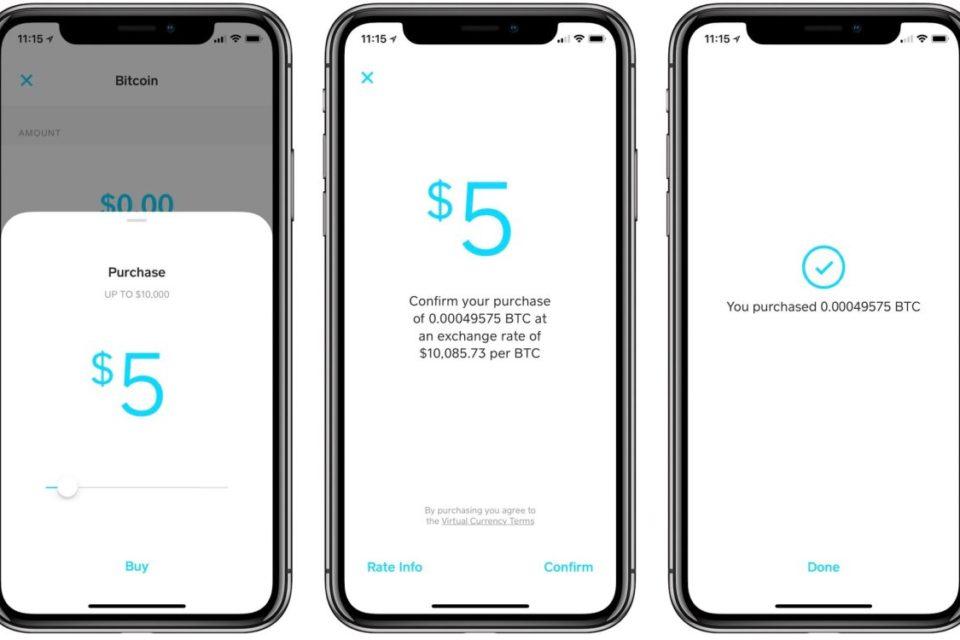 Приложението Square Cash позволява лесната покупка и продажба на Bitcoin