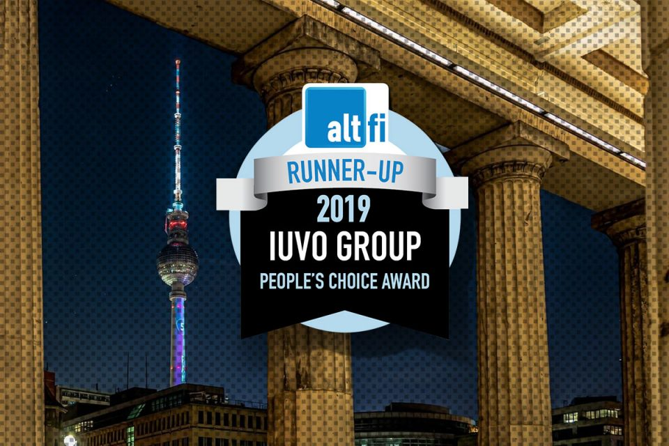 Iuvo Runner-up в категория People's Choice на наградите на AltFi